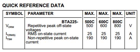 BTA225-600C